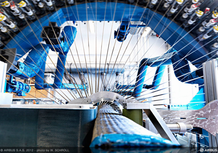 Airbus Carbon fibre weaving