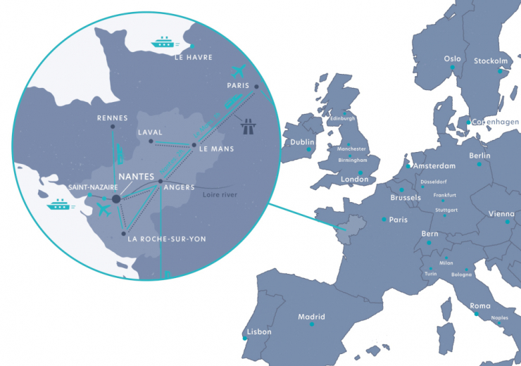Atlantic France map