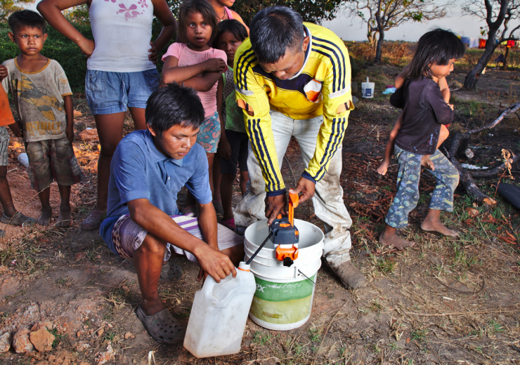 Water purifier in an indigenous community in Puerto Carreño, Colombia