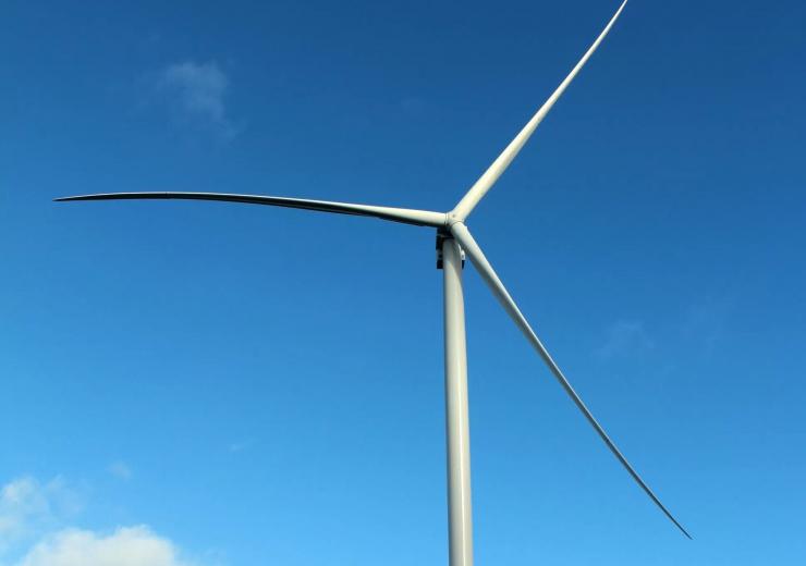 An offshore wind turbine in Atlantic France
